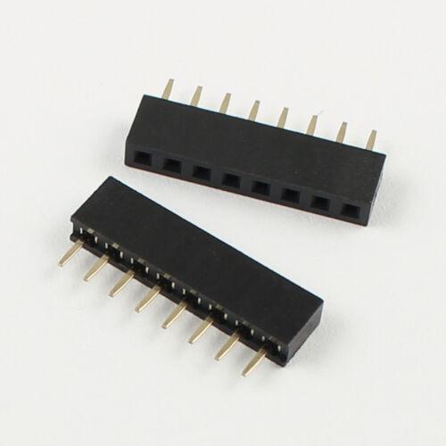 10Pcs 2mm 2.0mm Pitch 8 Pin Female Single Row Straight Pin Header Strip PH:4.3mm