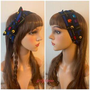 Peachy Pac Man Pacman Headband Hairband Bandana Hair Tie Band Bow Costume Natural Hairstyles Runnerswayorg