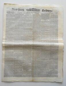 New York Tribune Newspaper Buffalo Bill 1872 P.T. Barnum Museum Ned Buntline