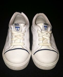 Boys toddler white navy Keds sneakers shoes size 6.5 VGUC ...