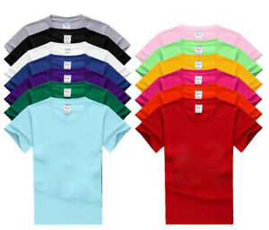 New-Cotton-blank-round-neck-short-sleeve-T-shirt-custom-casual-men-039-s-shirts