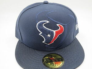 Houston Texans Blue Sideline New Era 59Fifty NFL Fitted Hat Cap 7 1 ... 1c5efbd4e362