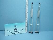 Dollhouse Miniature 1 12 Medical Crutches Town Square Miniatures E1g