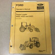 Ford New Holland 345d 445d 545d Tractor Loader Operators Manual Maintenance