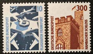 Stamp-Rfa-Frg-German-Stamp-Yvert-and-Tellier-N-1179-amp-1180-N-Cyn21