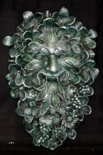 Mythical Antique Green Man Wall Sculpture Home Garden Decor Art 10008