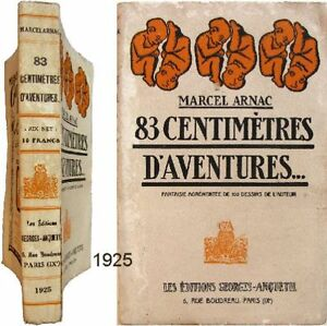 83-centimetres-d-039-aventures-1925-Marcel-Arnac-1ere-edition-100-dessins-fantaisie