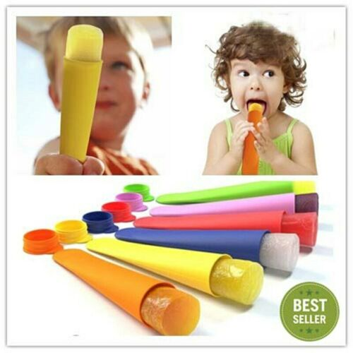 Hot Silicone Popsicle Mold Ice Pop Molds Ice Cube Tray Ice Cream Tubs Tools