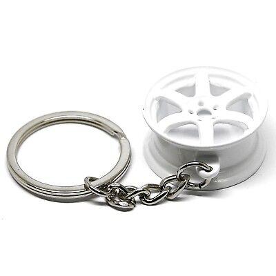Apprensivo Portachiavi Metallo Chiave Auto Ciondolo Cerchio Ruota 6 Raggi Bianco I Prodotti Sono Venduti Senza Limitazioni