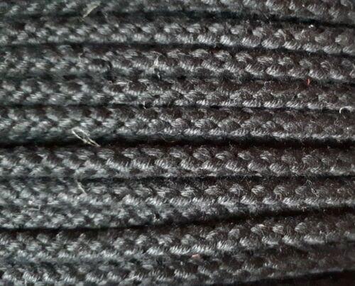 4mm 8 Plait Matt Polyester Cord Black or Buff multi-purpose various lengths