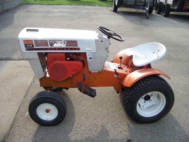 vintage 1968 sears suburban 12 garden tractor restored for sale online