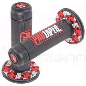 2x-Manopola-PRO-TAPER-manubrio-Motocross-Pit-Bike-Motard-manopole-7-8-grip-ROSSO