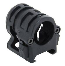 AIRSOFT AF OPS BLACK RAIL 20MM SMALL HELMET TORCH MOUNT UK