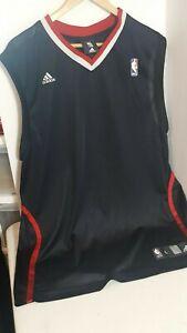 Details about ADIDAS SLEEVELESS BASKETBALL JERSEY-NBA BRAND-SZ LARGE-BLACK