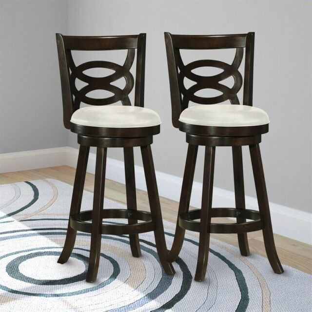 Incredible Atlin Designs 29 Swivel Bar Stool In White Set Of 2 Theyellowbook Wood Chair Design Ideas Theyellowbookinfo