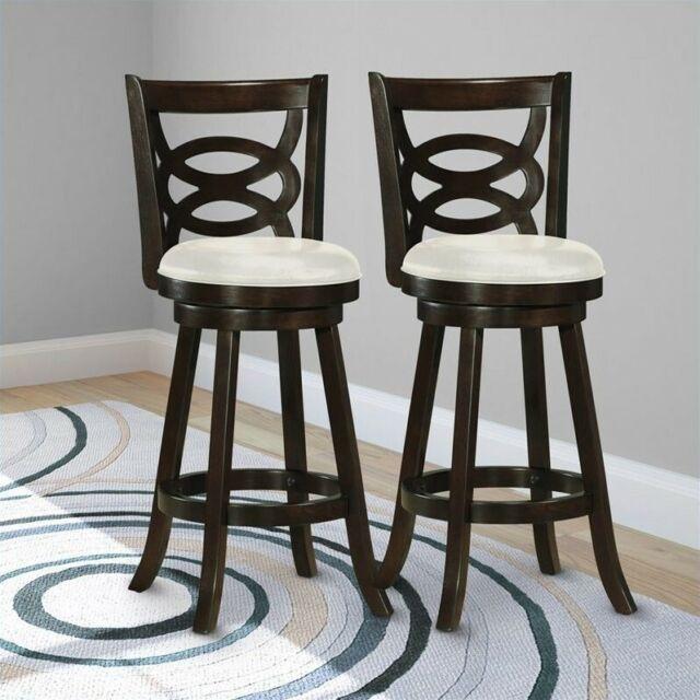 Marvelous Atlin Designs 29 Swivel Bar Stool In White Set Of 2 Uwap Interior Chair Design Uwaporg