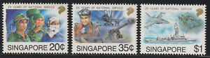 (X161)SINGAPORE 1992 25 YEARS OF NATIONAL SERVICE SET 3V MNH CAT RM 10