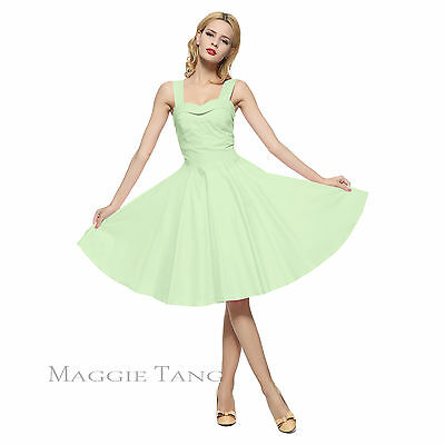 Magic Castle 50s Retro VTG Pinup Hepburn Rockabilly Party Swing Dress R-583