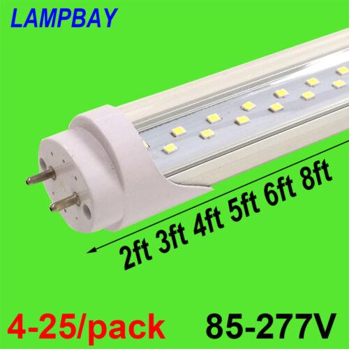 Double Row Lights T8 G13 LED Tube Bulb Super Bright Bar Lamp 2ft 3ft 4ft 5ft 6ft
