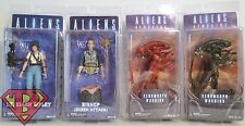 "RIPLEY BISHOP XENOMORPH Aliens 7"" inch Movie Figures Set of 4 Series 5 Neca 2015"