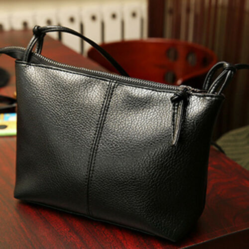 Women Messenger Crossbody Bag Solid Square Flap Bag Shoulder PU Leather Handbag