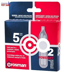 Crosman 12 Gram CO2 Cartridge Tank BB Pellet Airsoft Gun Gas 5 Cartridges New