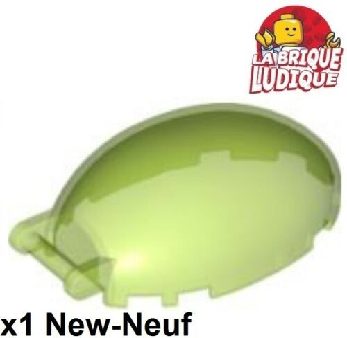 1x Windscreen 6x4x2 1//3 cockpit bubble vert trans bright green 87752 NEUF Lego