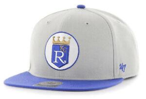 KANSAS CITY KC ROYALS MLB FLAT BILL SURE SHOT '47 CAPTAIN SNAPBACK CAP HAT NEW!