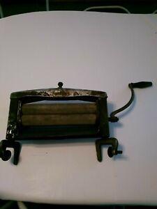 Vintage Antique Wringer Wood Metal Roller For Washing