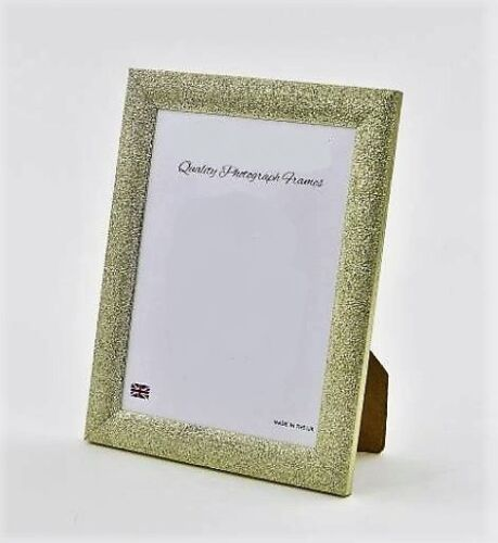 Various sizes Glittery//Sparkly Finish CHAMPAGNE GOLD Photo//Picture Frames
