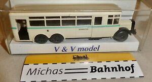 Bussing-80N-1930-Urbain-Tramway-Dresden-Bus-H0-1-87-Emballage-D-039-Origine-V-amp-v-A