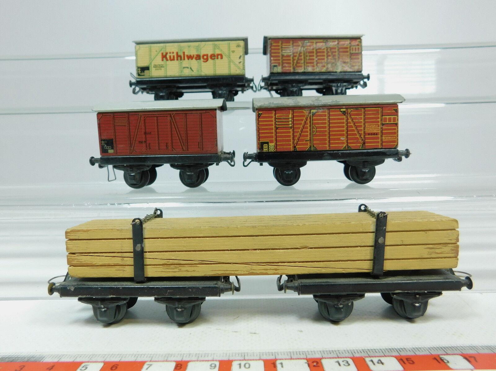 AZ361-1  5x TTR  Trix Express H0 DC Blech-Güterwagen  2063 DRG+2062+2070 etc