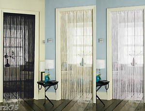 Image is loading String-Door-Curtain-Retro-Chic-Door-Curtains-Black- & String Door Curtain Retro Chic Door Curtains Black Cream White ...