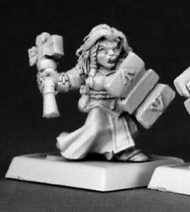 WARLORD REAPER miniature figurine jdr nain guerrier 14519 1 x DWARF VALKYRIE