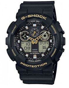 Casio-G-Shock-GA100GBX-1A9-Black-amp-Gold-Anadigi-Watch-COD-PayPal-Ivanandsophia