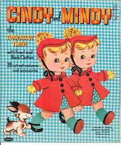 ... -CINDY-amp-MINDY-PAPER-DOLLS-CUTE-LASER-REPRODUCTION-Orig-SIZE-UNCUT