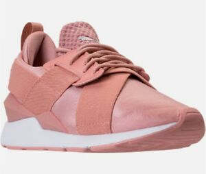 puma muse satin ep peach sneakers, OFF