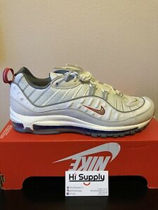 Details about Nike Air Max 98 Mens Size 12 Running Shoes CD1538-100 Summit  White NEW IN BOX