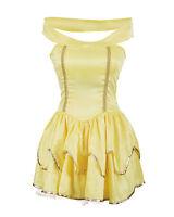 Belle Fancy Dress Ladies Princess Hen Halloween Costume Size 6 8 10 12 14 16