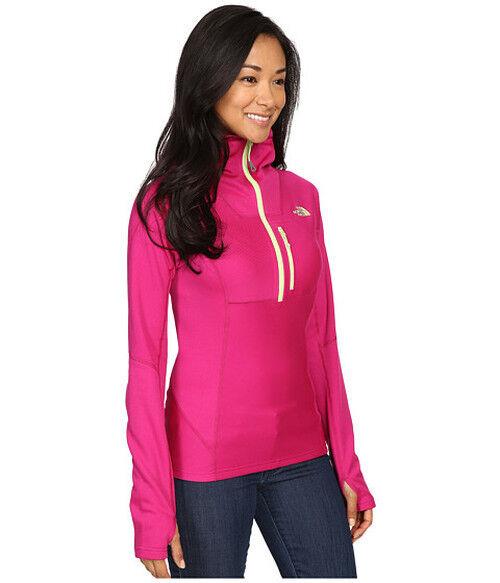 NWT The North Face FuseForm Dolomiti 1 4 Zip Hoodie womens fuchsia pink medium M