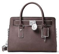 Michael Kors Hamilton Specchio Saffiano Leather East West EW Cinder Grey Satchel