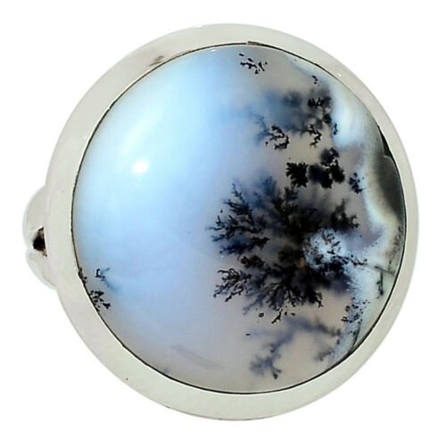 Merlinite Dendritique Opale-Turquie 925 Sterling Silver Ring Jewelry s.4.5 32650R