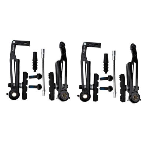 2 Pair Alloy Folding Bike V Brake Long Arm Flexible Noddles Brakes Pads Parts
