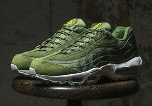 quality design de897 97e7f Details about STUSSY x NIKE AIR MAX 95 GREEN US UK6 7 8 9 10 11 12 OLIVE  834668-337 SP 2015