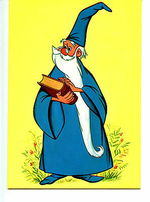 Merlin Magician-Sword in the Stone Disney Animation Character Art Spain Postcard