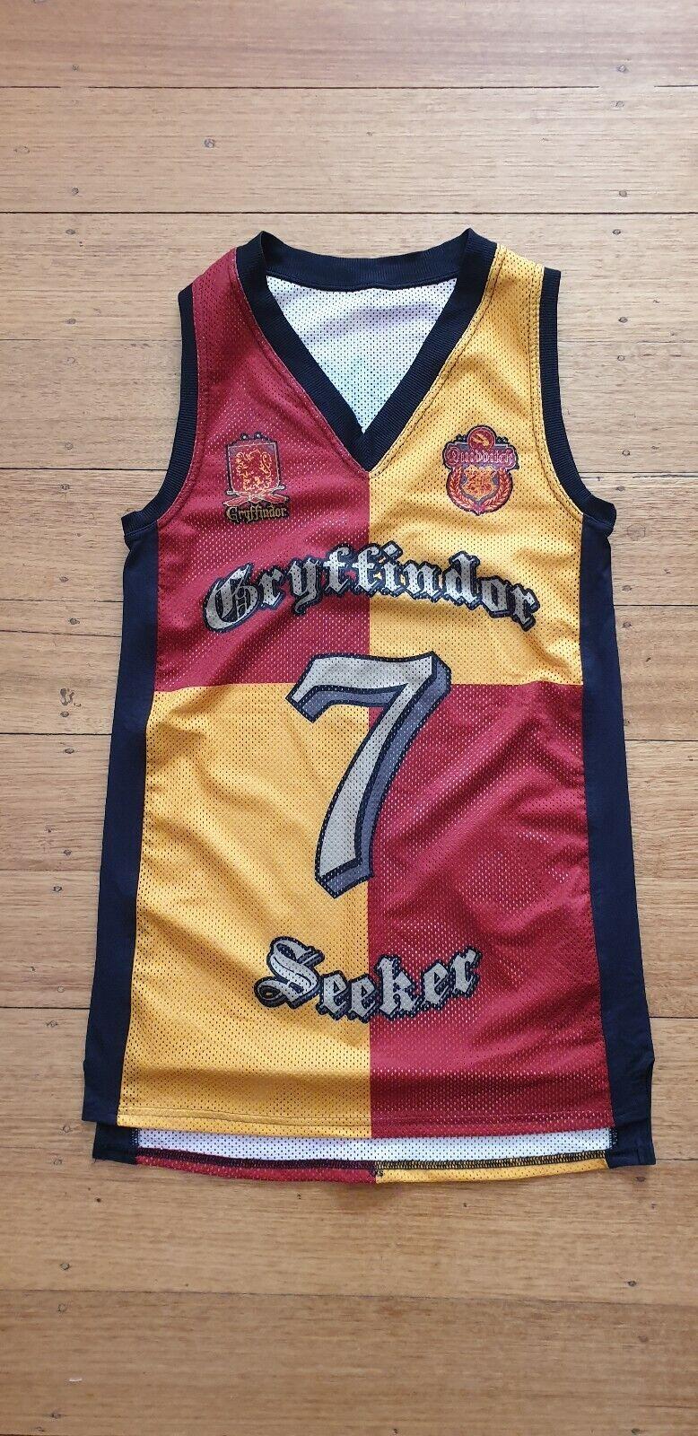 Harry Potter   7 Gryffindor Seeker Quidditch singlet vest XXS brand new