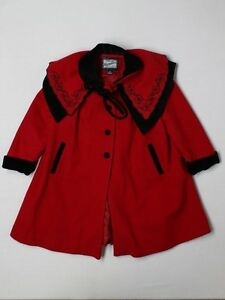 Girl-Rothschild-Red-Black-Wool-Holiday-Dress-Coat-4T