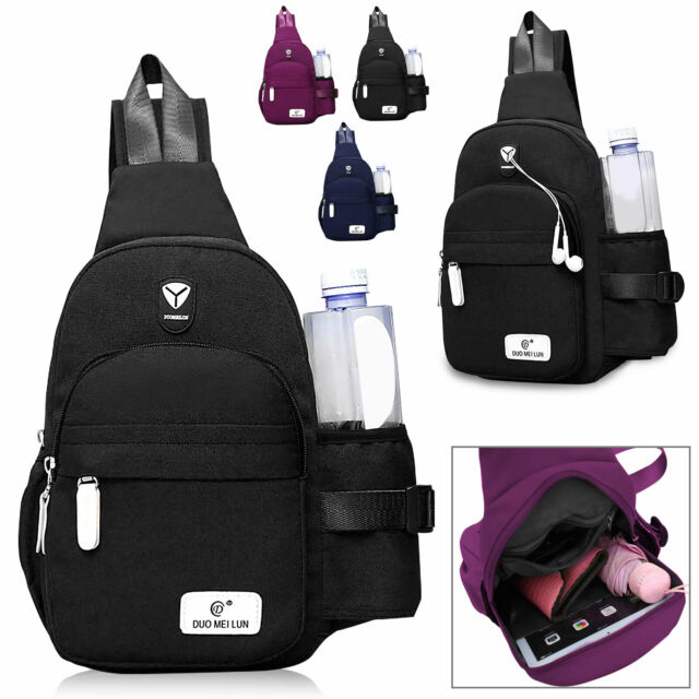 Sling Chest Bag Cross Body Backpack Fanny Pack Hip Waist Bags Travel Sports Bags