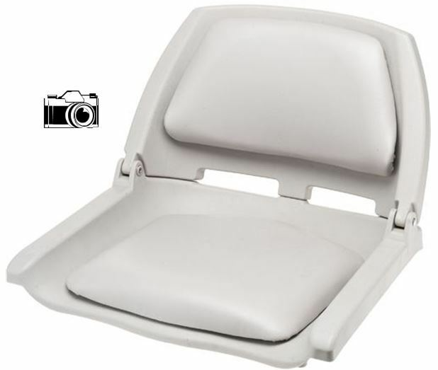 2 Pack Light Gray Fold Down Padded Boat Seats Boating Bass Fishing Seat Set    EBay