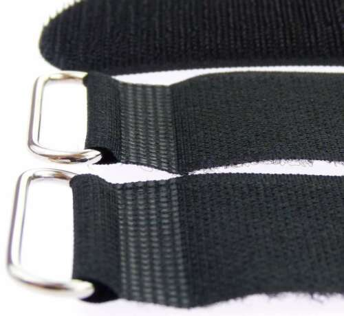 30 x velcro bridas 500 x 50 mm negro cable cinta de velcro cable cierre de velcro